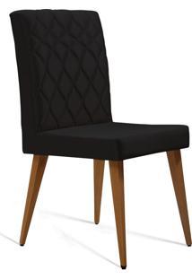 Cadeira Julia T1104 Cetim Preto Daf Preto