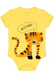 Body Rovitex Baby Masculino Amarelo