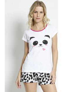 Short Doll Panda- Branco & Pretozulai