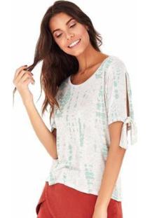 Camiseta Sidewalk Tie Dye Feminina - Feminino-Verde
