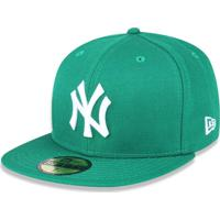 984387f6e67ad Boné New Era 5950 New York Yankees Aba Reta Verde