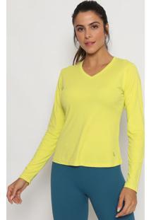 Camiseta Lisa Com Repelente - Verde Neonlupo