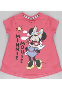 Blusa Minnie Rosa Escuro