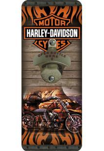 Abridor De Garrafa De Parede Harley Davidson - Tricae