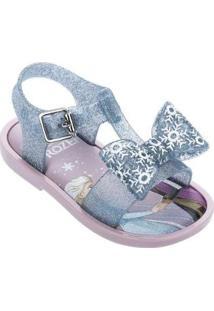 Sandália Bebê Mini Melissa Mar Sandal + Frozen Feminino - Feminino-Lilás+Azul