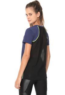 Camiseta Hope Resort Tule Lisa Azul-Marinho/Preta