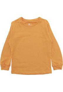 Camiseta Hering Kids Menina Lisa Amarela