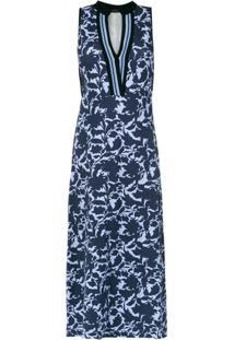 Animale Vestido Longo Estampado - Azul