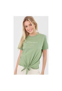 Camiseta Colcci Sustainability Verde