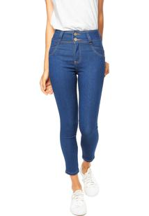 Calça Jeans Biotipo Corpete Azul