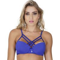 530a671c2 Sutiã Click Chique Básico Strappy - Feminino-Azul