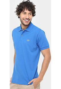 38b5bd112c384 Camisa Polo Lacoste Piquet Original Fit Masculina - Masculino-Azul Royal