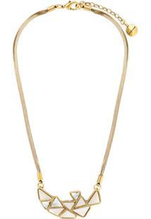 Camila Klein Colar Curto Com Triângulos - Dourado