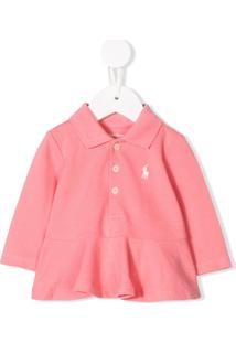 Ralph Lauren Kids Camisa Polo Com Peplum - Rosa