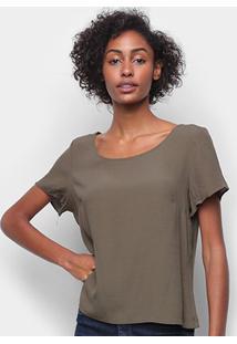 Camiseta Forum Ampla Feminina - Feminino-Verde