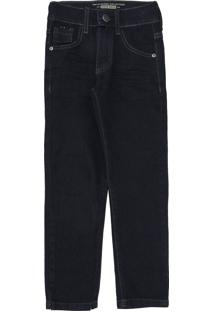 Calã§A Jeans Mania Kids Infantil Lisa Azul-Marinho - Azul Marinho - Menino - Algodã£O - Dafiti