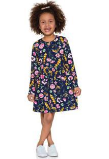 Vestido Infantil Menina Azul