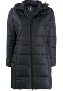 Save The Duck Hooded Padded Coat - Preto