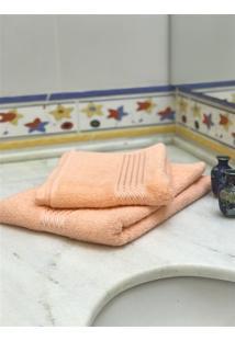 Jogo 2 Peças Toalhas De Banho E Rosto Prisma Af1290 - Salmão