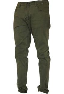 Calça Slim Hurley Masculina - Masculino-Verde