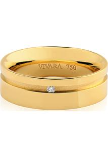 Aliança De Casamento Ouro Amarelo E Diamante