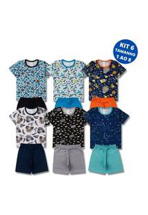 Kit 6 Pijamas Infantil Menino Verão