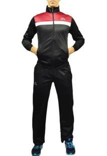 Agasalho Kappa Sportswear Jones Helanca Masculino - Masculino-Preto