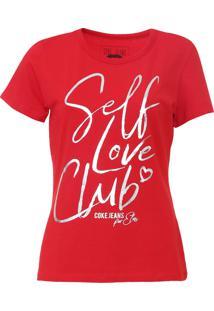 Camiseta Coca-Cola Jeans Lettering Vermelha - Kanui