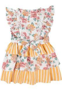 Vestido Infantil Junino Com Renda