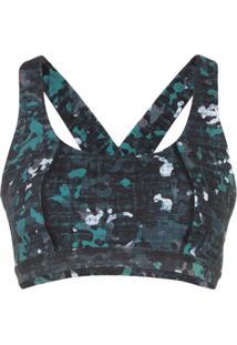 Sweaty Betty Circuit Camouflage-Print Sports Bra - Deep Lake Camo Print