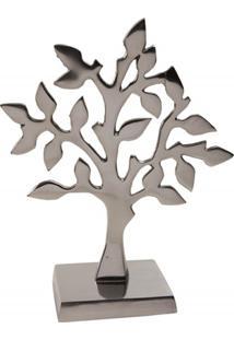 Escultura Em Alumínio Árvore Liat 26Cm Prata