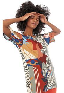 Camiseta Cantão Labirinto Bege/Preta