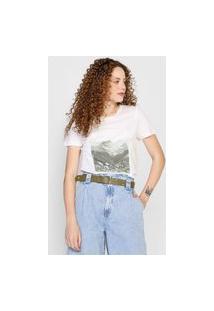 Camiseta Vero Moda Trees Off-White