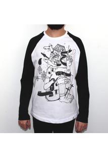 Profundo - Camiseta Raglan Manga Longa Masculina