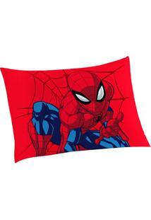 Fronha Spider Man®- Vermelha Azul Marinho- 50X70Cmlepper