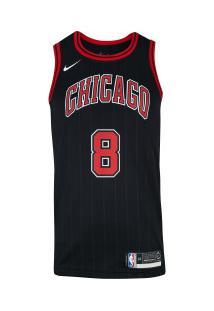 Camisa Regata Nike Nba Chicago Bulls Zach Lavine 8 - Masculina - Preto