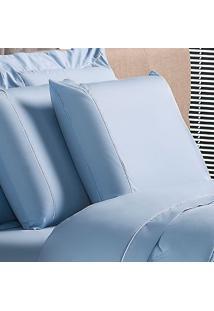 Fronha Basic Algodão Azul 50X90