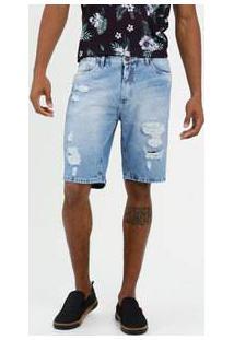 Bermuda Masculina Jeans Destroyed Mr