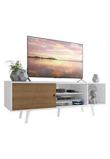 Rack Madesa Dubai Para Tv Até 65 Polegadas Com Pés Branco/Rustic/Branco