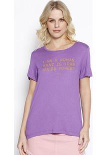 Camiseta ''I'M A Woman'' - Roxa & Amarelo Escuro - Ccolcci