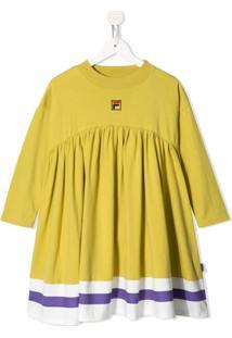 Melt Vestido Com Logo Bordado - Amarelo