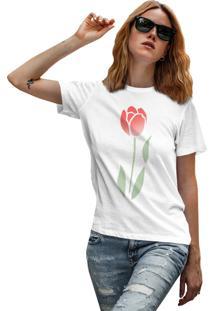 Camiseta Basica My T-Shirt Rose Degrade Branco