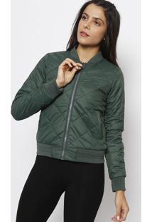 Jaqueta Em Matelassê - Verde Escurofila