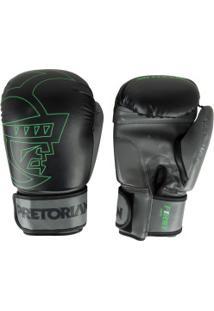 Luvas De Boxe Pretorian First - 16 Oz - Adulto - Preto/Cinza
