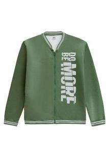 Jaqueta Juvenil Abrange Way Estampa Do Be More Verde Abrange Casual Verde
