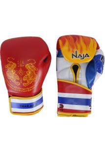 Luvas De Boxe Naja Tailândia - 14 Oz - Adulto - Branco/Azul
