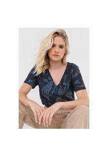 Camiseta Sacada Crab Azul-Marinho