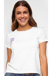 Camiseta Volare Be A Dream Creator Manga Curta Feminina - Feminino-Off White