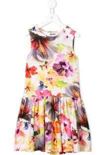 Molo Vestido Com Estampa Floral - Neutro