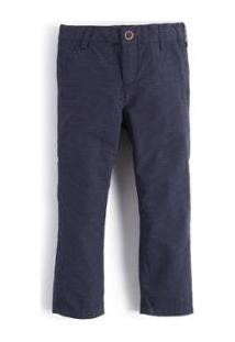 Calça Mini Poa Maquinetada Infantil Reserva Mini Masculina - Masculino-Marinho